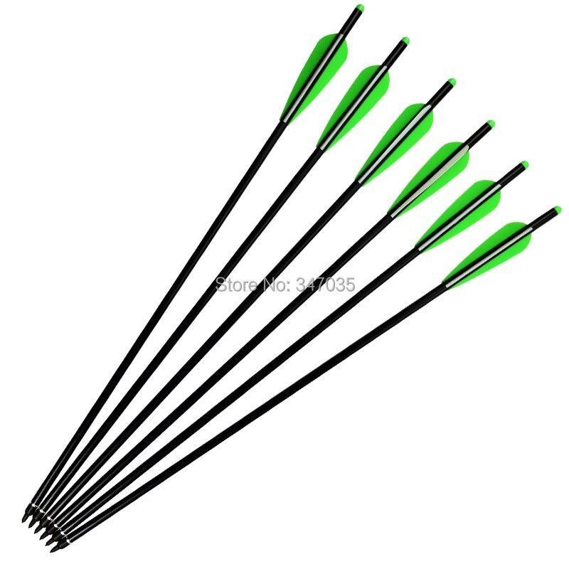 22 inch Aluminum Arrows 2219# Crossbow Bolts for Archery Hunting Outdoor Sports - Moon Nock Insert Broadhead 4