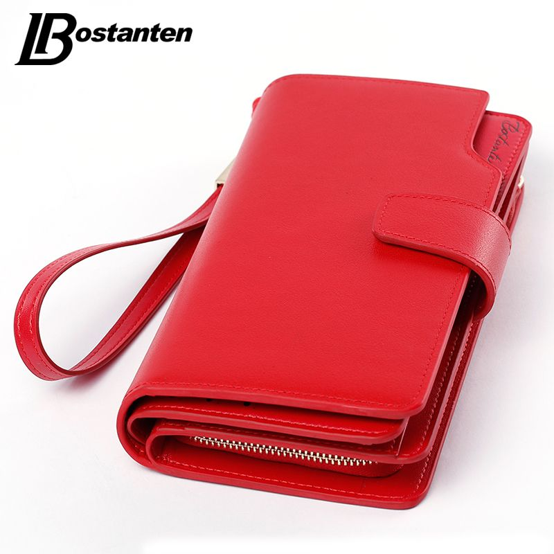 Bostanten Genuine Leather Women Wallets Luxury Brand 2017 New Design High Quality Fashion Girls Purse Card Holder Long Clutch