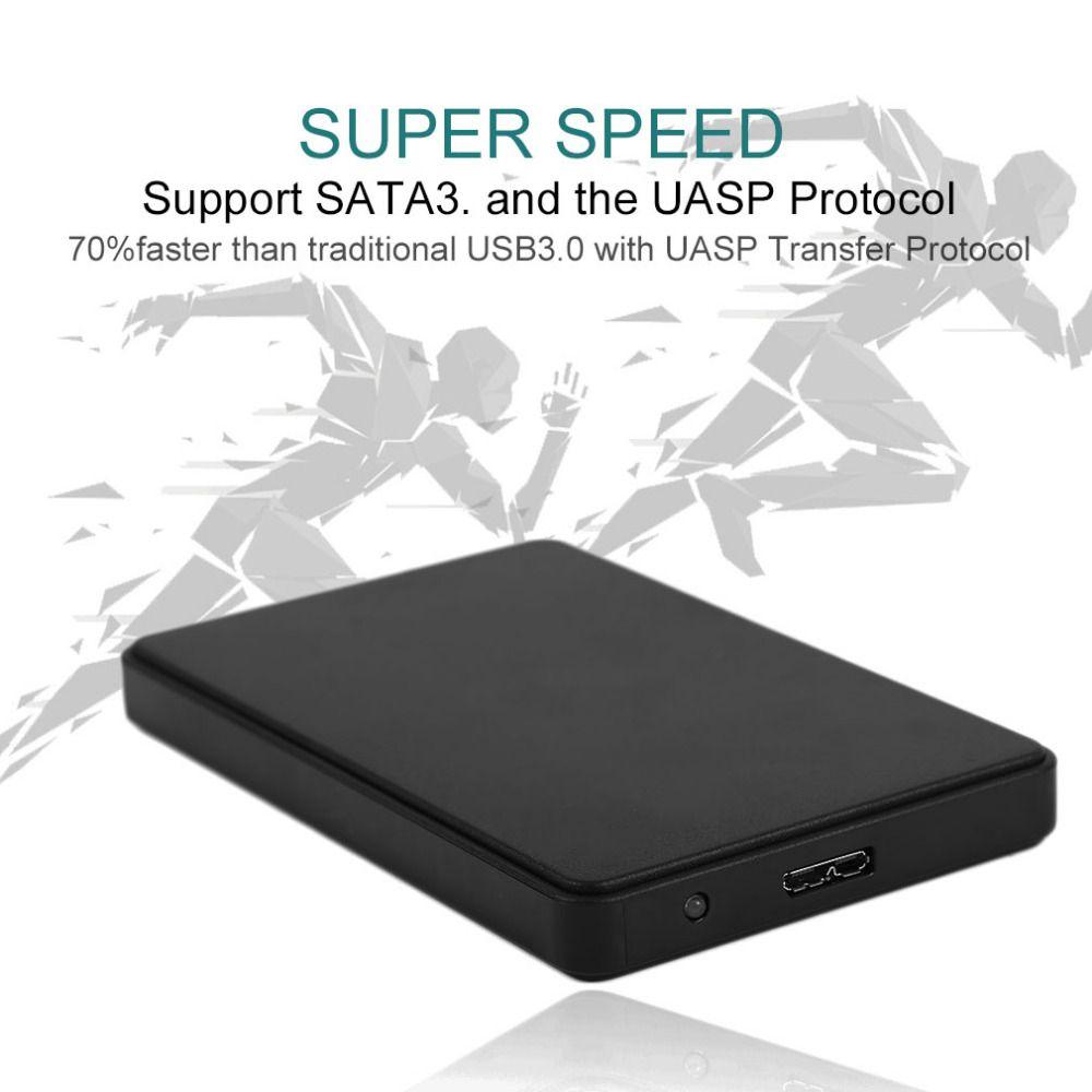 2,5 Zoll SATA Externe Gehäuse USB3.0 Festplattengehäuse ABS Box Für Festplatte Unterstützung 3 TB Kapazität Tropfenverschiffen