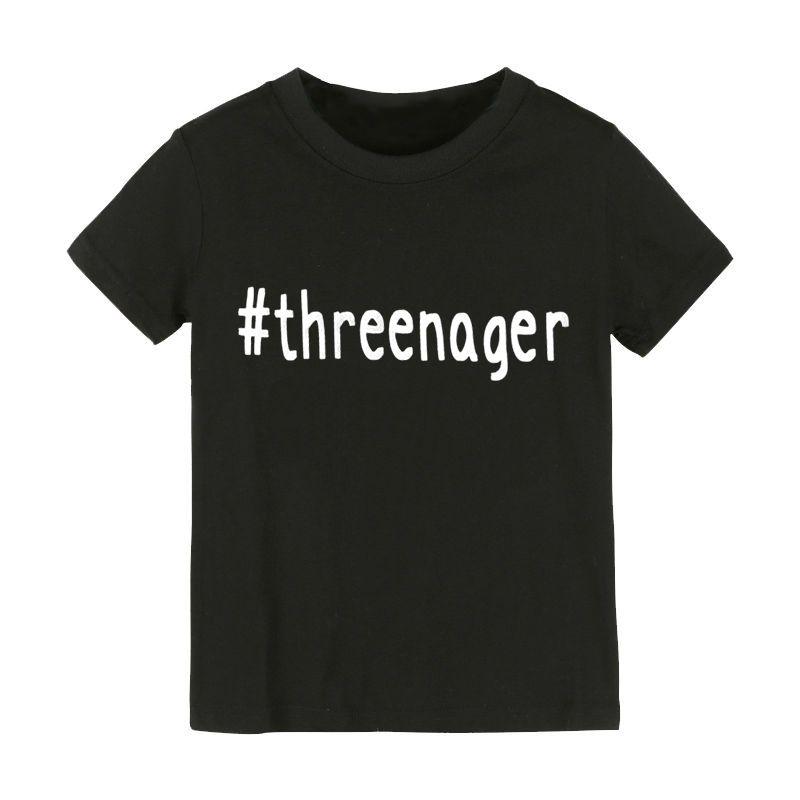 Schwarz Weiß Studens Weichen Casual Tops t-shirt Harajuku Threenager Buchstaben Drucken t-shirt XL Größe WMT194