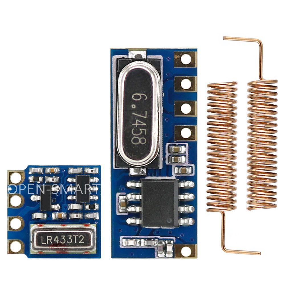 OPEN-SMART Longue Portée 433 MHz Sans Fil Émetteur-Récepteur Kit Mini RF Émetteur Récepteur Module + 2 PCS Printemps Antennes pour Arduino
