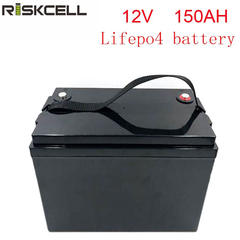 Keine steuern wiederaufladbare 12V 150Ah lithium-Eisen Phosphat batterie pack LiFePO4 Batterie ABS Fall solar energie lagerung