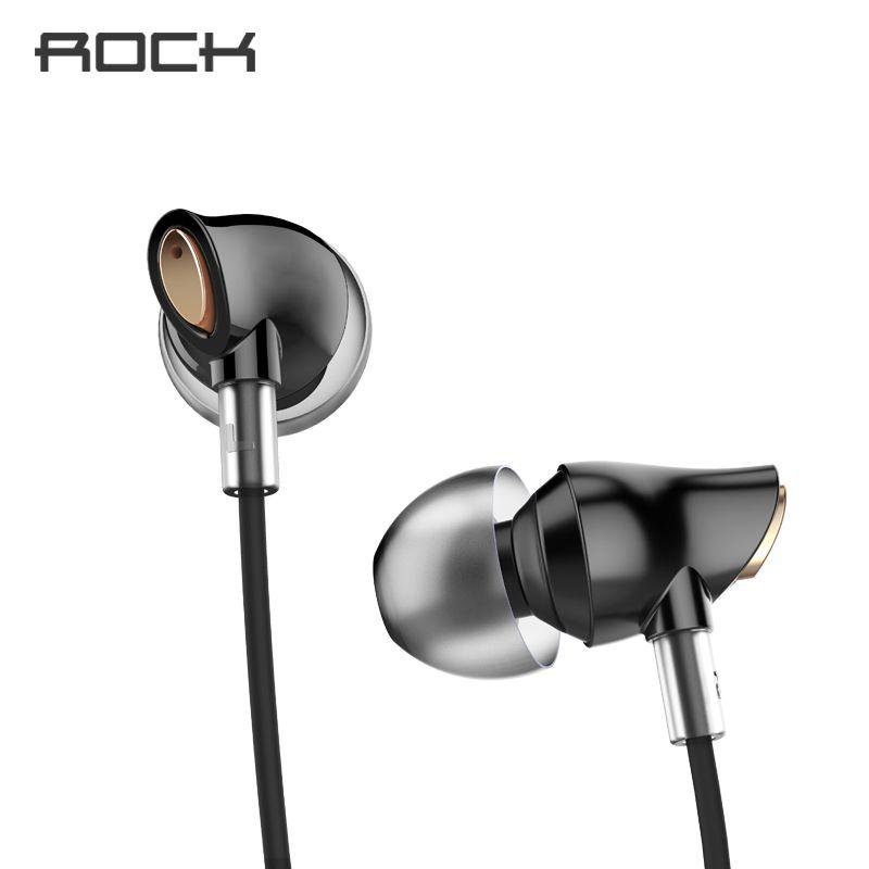 Rock Zircon écouteur stéréo dans l'oreille casque avec Micro 3.5mm dans équilibré immersif écouteurs pour iPhone pour Xiaomi Huawei