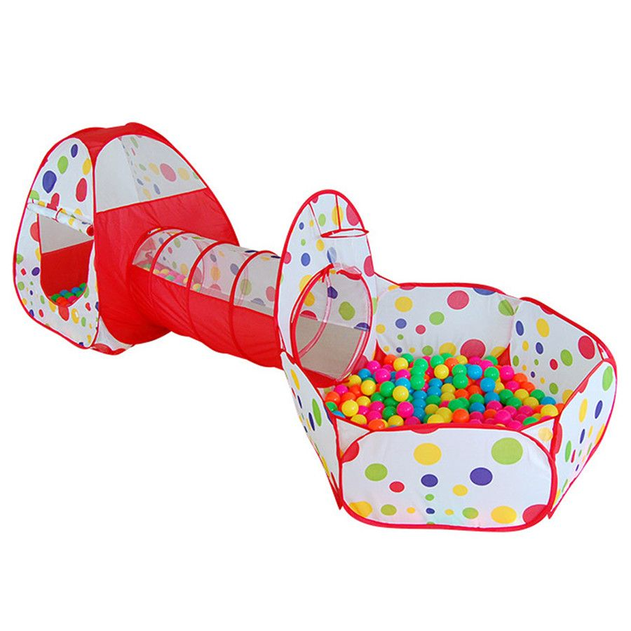 Extra Large Kids Tent Pipeline Crawling Huge Game Play House Fordable Baby Ocean Ball Pool Pit Children Pool-Tube-Teepee Tent