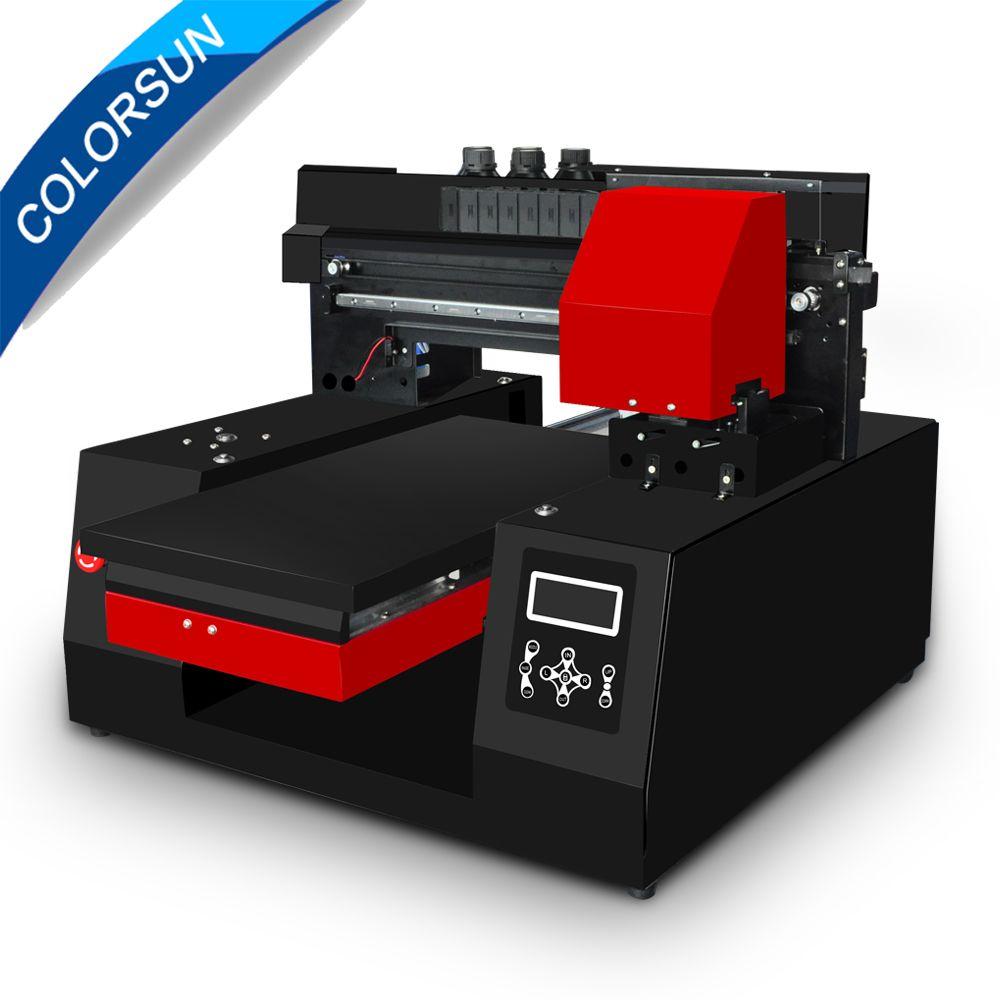 Colorsun Automatische A3 3060 Uv-flachbettdrucker leder Metall 3060 uv drucker für Epson DX9 druckkopf mit schneller geschwindigkeit