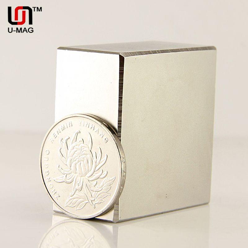 1pcs Block 40x40x20mm N52 Super Strong <font><b>pull</b></font> force 85kg magnets Neodymium Magnet high quality Free shipping Rare Earth