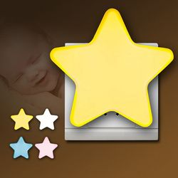 DX Sensor Control Night Light EU US Plug Novelty Star Bedroom Night Light For Baby Gift Buy 2 pieces get 1 piece free