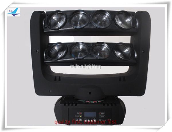 4pcs/lot 8 eyes flight case LED Stand Spider Beam Light Stage Beam Light 10w Spider moving head