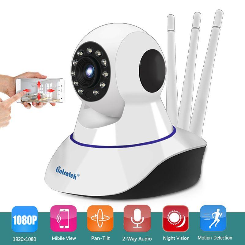 2MP Wireless Three Antenna Security P2P Camera HD 1080P Wifi IP Camera Baby Monitor with Pan Tilt Zoom 2-Way Audio Night Vision