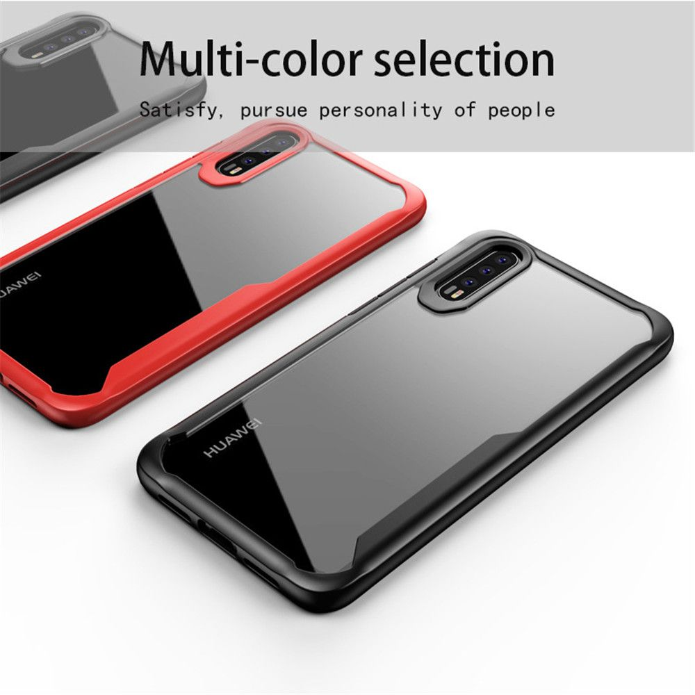 KDTONG Case For Cover Huawei P20 Lite Case Luxury Soft Silicone + Transparent PC Cover Case For Coque Huawei P20 Pro Case Cover