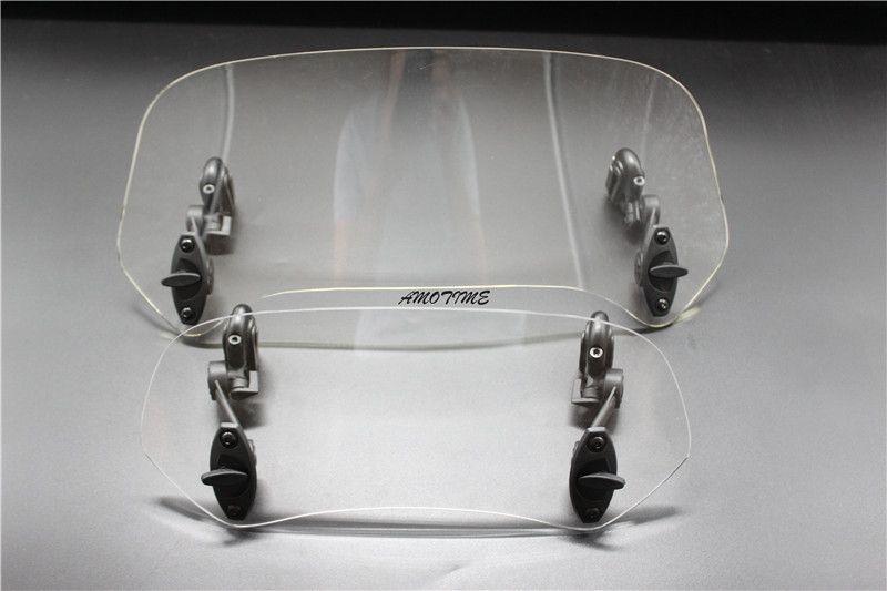 Universal Adjustable Screen Windscreen Windshield Spoiler Air Deflector for KAWASAKI HONDA KAWASAKI SUZUKI KTM BMW DUCATI