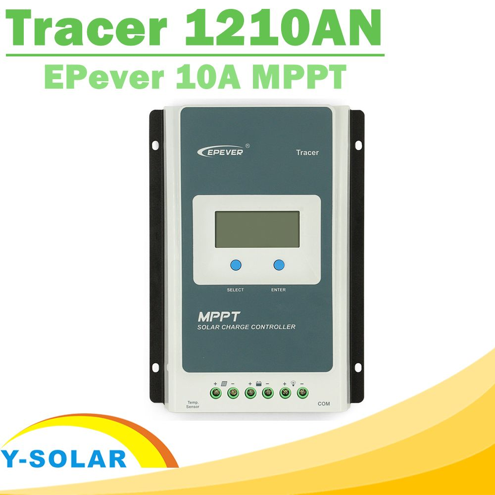 EPsolar MPPT Tracer 1210AN Solar Controller 10A 12V 24V LCD Solar Panel Charge Controller Battery Regulator for Max 100V Input