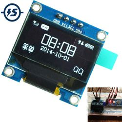 For Arduino OLED Display Module 0.96 inch IIC Serial White 128X64 I2C SSD1306 LCD Screen Board GND VCC SCL SDA 0.96
