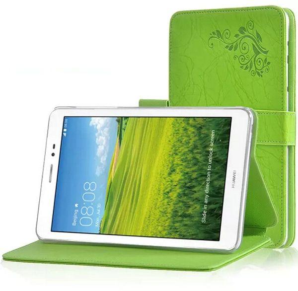 Nouvelle Arrivée Impression Motif Folio Stand Housse de Protection Impression Fleur Étui En Cuir Pour HuaWei MediaPad T1 8.0 S8-701U S8-701W