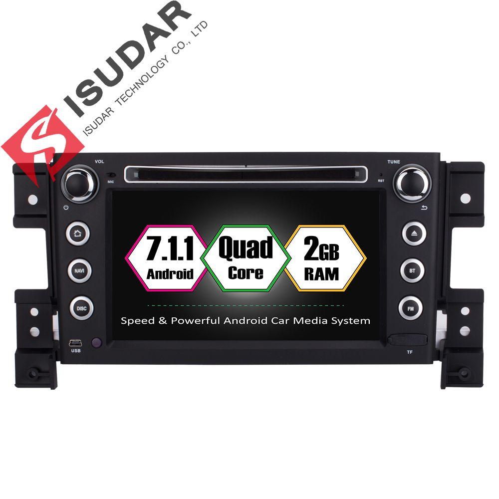 Isudar Car Multimedia Player GPS 2 Din Android 7.1.1 DVD Automotivo For SUZUKI/Grand Vitara 2005 Radio FM 4 Cores Ram 2G Rom 16G