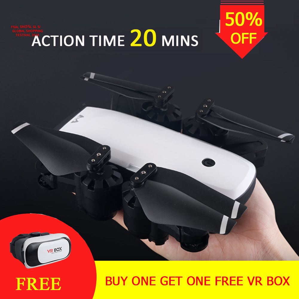 S20 Drone With HD 1080P Wifi Camera Quadrocopter Hovering FPV Quadcopters 5MP Folding RC Helicopter Storage bag VS cg033 drone