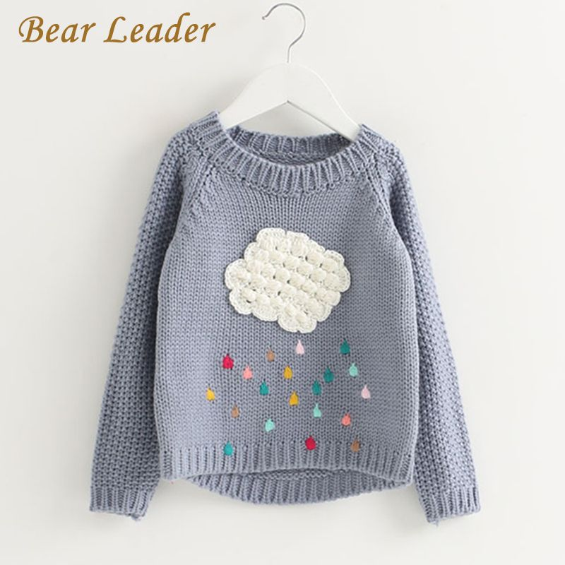 Bear Leader Girls Clothing 2018 Winter Pullover Children Sweaters Cartoon Cloud Long Sleeve Outerwear O-neck <font><b>Kids</b></font> Knitwear 3-7Y