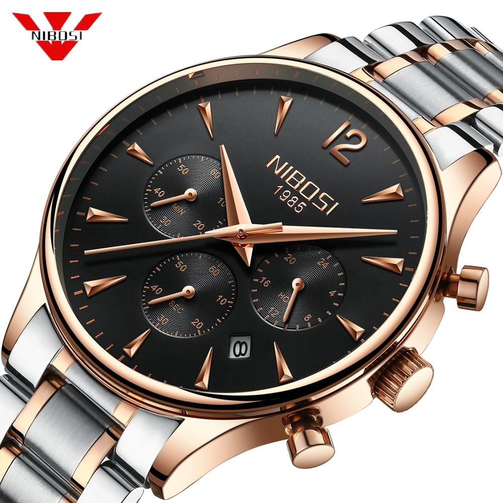NIBOSI Luxury Brand Watch Men Sport Watches Waterproof Quartz Male Clock Military Wrist Watch Relogio Masculino Montre 2019 Saat