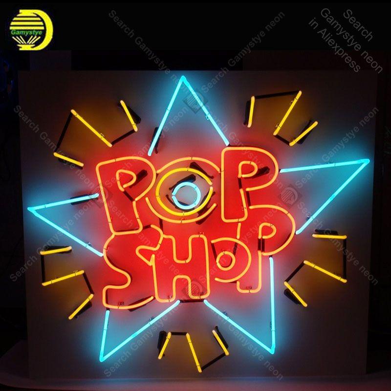 Neon licht Zeichen Pop Shop Neon Lampen zeichen Lampe Handwerk restaurant display werben neon Letrero Neons enseigne lumine