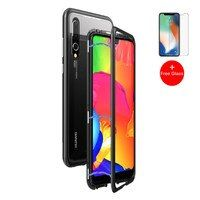 Magnetic Adsorption Case for Huawei P20 Mate 10 Pro Luxury Magnet Metal Aluminum Phone Glass Cover for Huawei Honor 10 P20 Lite