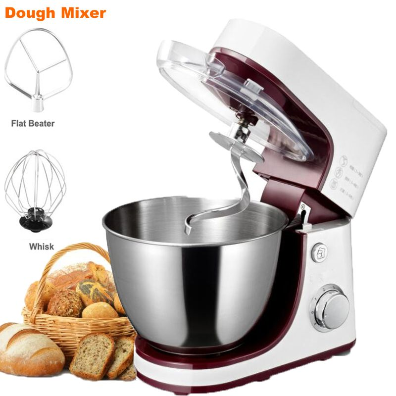 6 Speed Dough Hand Mixer Egg Beater Food Blender Multifunctional Food Processor Ultra Power Electric Kitchen Mixer