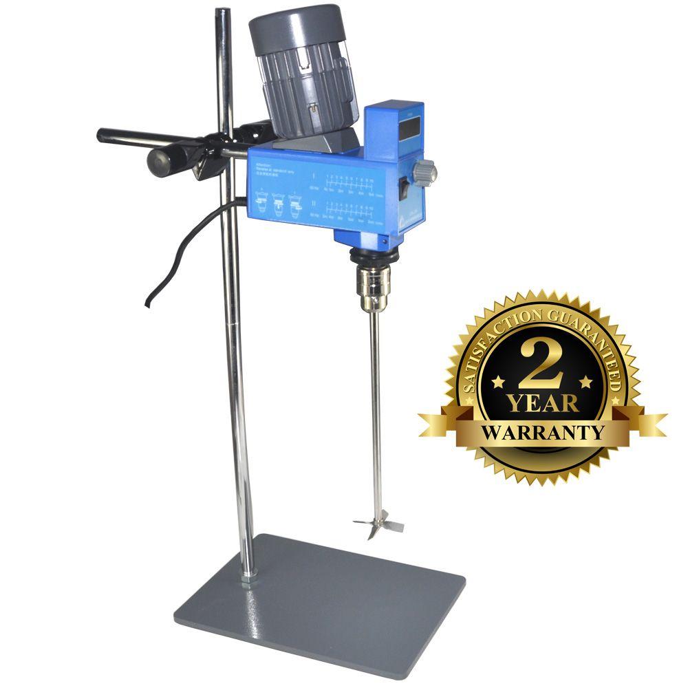 Scientific Digital Lab Overhead Stirrer Electric Industrial Laboratory Liquid Mixer 20L for Medium viscosity