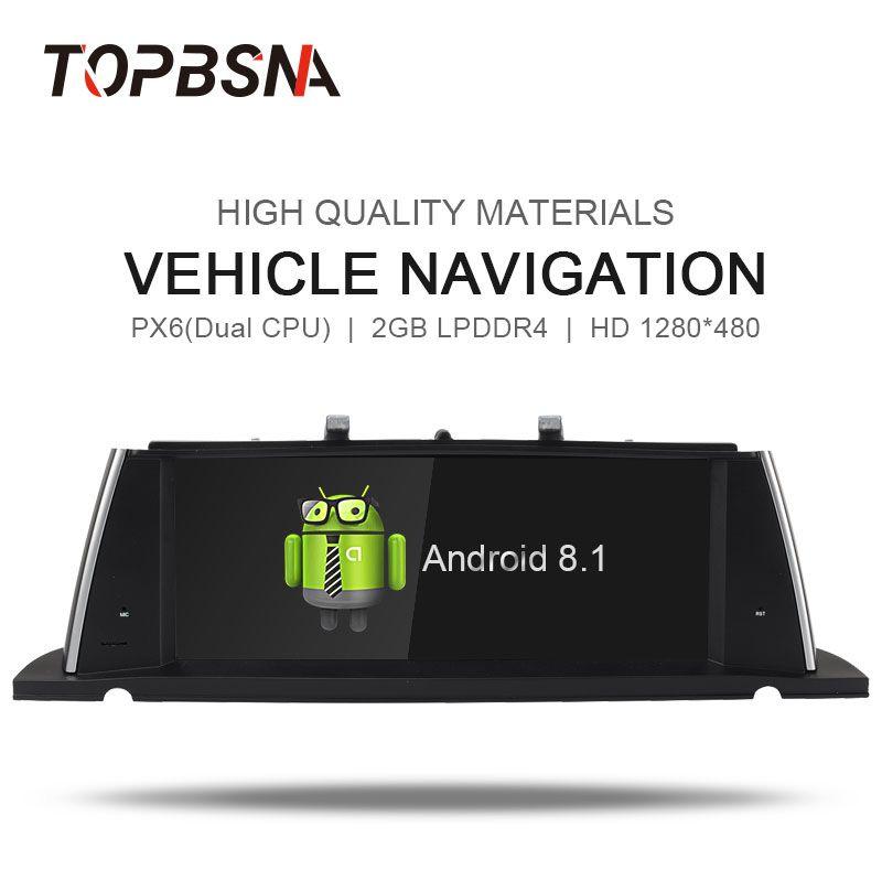 TOPBSNA 10,25 ''Android 8.1 System Auto DVD Player Für BMW 5 Series F07 GT 2013-2017 Auto GPS Navigation multimedia Steuergerät Audio