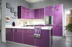 Фиолетовый глянцевый кухня мебель популярная в Лос-Анджелес, Америка