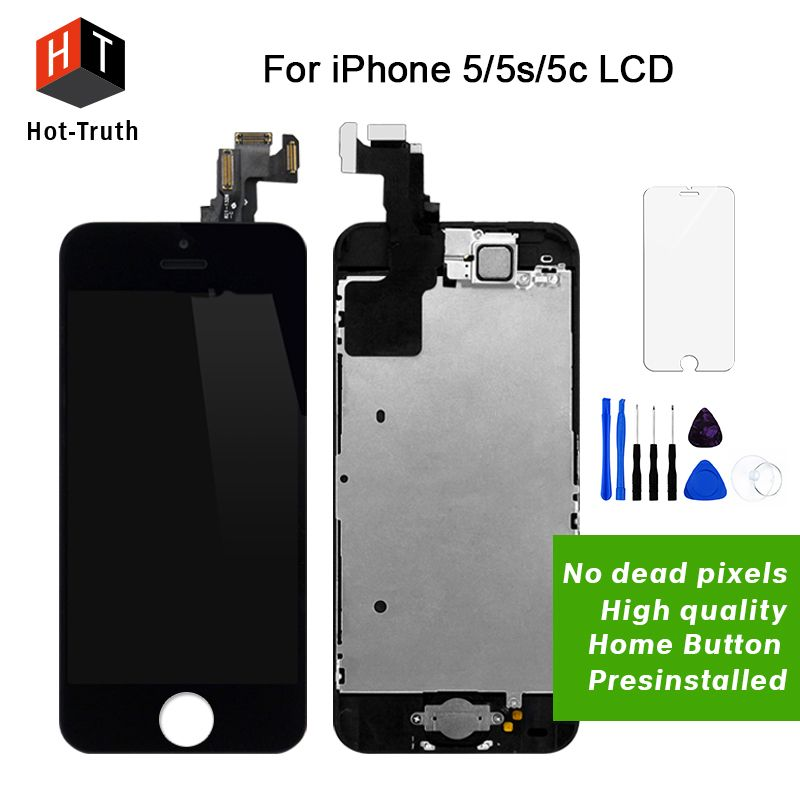 Hot-Truth AAA+++Screen For iPhone 5 5S 5C 6 6S Display Touch Screen LCD Digitizer Full Asembly+Home Button+Camera Replacement