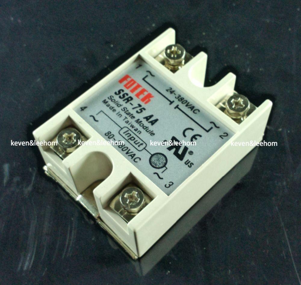 Solid state relais SSR-75AA 75A tatsächlich 80-250 v AC ZU 24-380 v AC SSR 75AA relais solid state