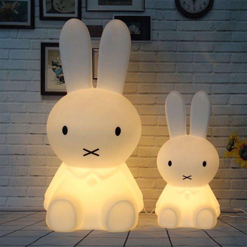 Conejo Night Lights Led Dimmable Del LED Lámparas de Noche Dormitorio Sueño de Dibujos Animados de Animales Decorativos Lámpara de Cabecera Salón Y1