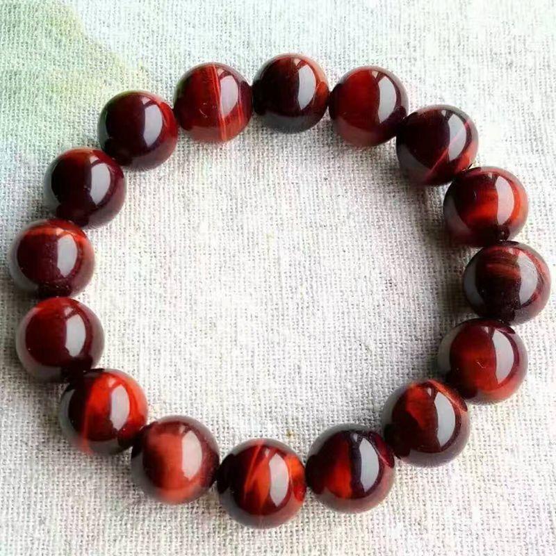 Натуральный красный тигровый глаз браслет 12 мм Бусины красный камень тигровый глаз Браслеты для Для мужчин Для женщин браслет ювелирных из...