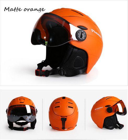 Луна лыжный шлем сверхлегкий интегрального под давлением Высокое качество Профессиональный сноуборд скейтборд шлем Для мужчин Для женщин ...