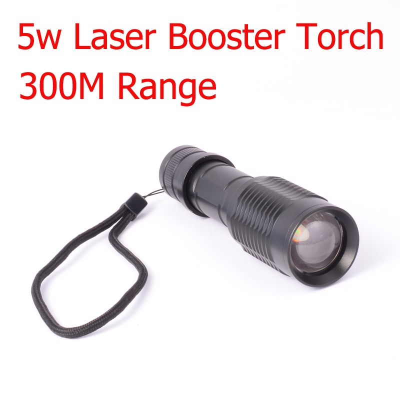 5w Laser Flashlight 300M Range Available Laser Torch Infared LED Torch Booster Tactical Torch for Hunter