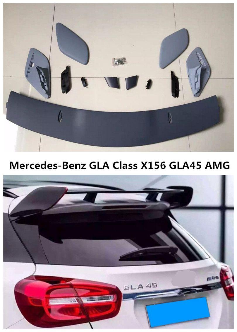 Spoiler For Mercedes-Benz GLA Class X156 GLA45 AMG GLA200 GLA220 GLA250 GLA260 2014-2017 Car Wing Spoilers Auto Accessories