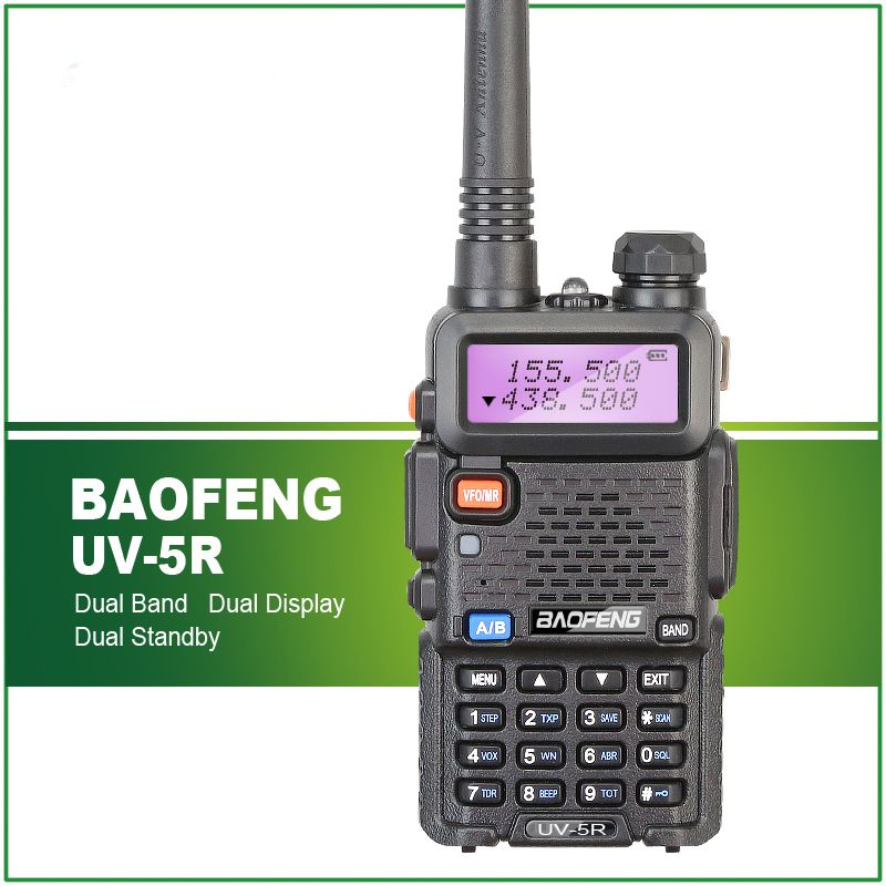 BaoFeng UV-5R 136-174/400-520 MHz Dual-Band DCS DTMF CTCSS FM Ham Two Way Radios