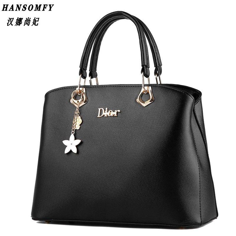 100% Genuine leather Women handbags 2017 New wave of female bag sweet lady fashion handbag shoulder Messenger