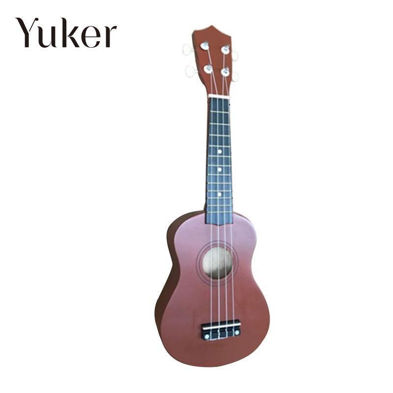 Yuker Mini Vintage 21 Inch Ukulele Acoustic Soprano Hawaii Coffee Rosewood Guitar 4 Strings Ukulele Cuatro Musical Instrument