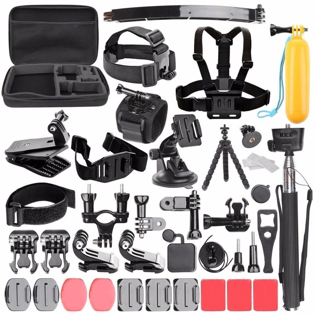 Kamera Zubehör Set mit Handheld Monopod Berg Strap für go pro hero 5 4 3 kit Für SJCAM Sport Action Kamera Zubehör