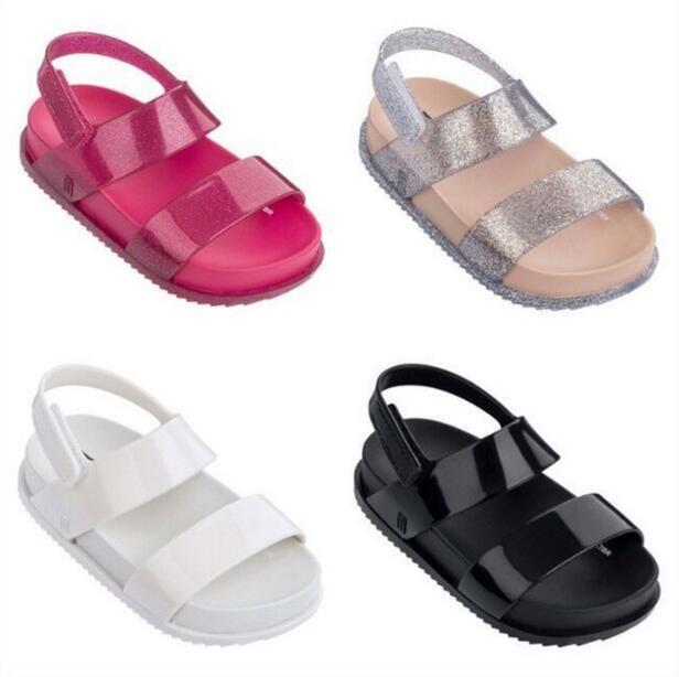 Mini Melissa 2018 New Children Shoes Sandals for <font><b>Girls</b></font> Casual Sandals Wear-resistant Children Mini Melissa Beach Sandals