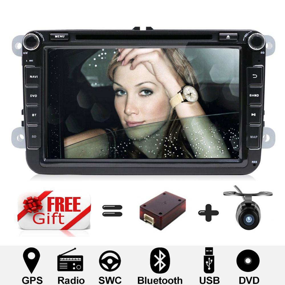 Android 7.1 8 zoll Auto DVD player GPS Navigation Auto Radio Für VW/Golf/Tiguan/Skoda/Seat /Altea/Skoda Wifi Bluetooth Hinten Kamera