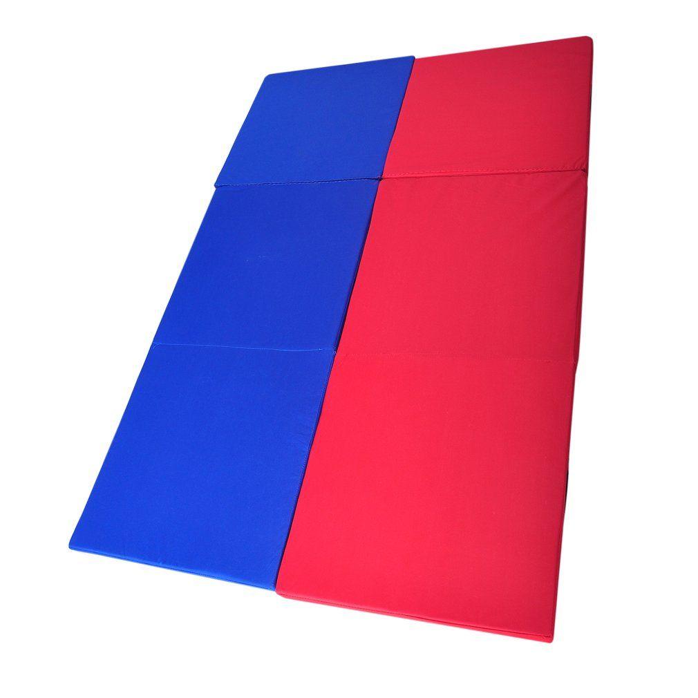 PITRYOGA 180*60*5cm Folding Yoga Mat Pearl Wool Soft Dance Pads Three Fold Gymnastics Mat Pilates Sports Training Sit-up Mat