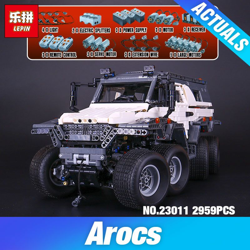2018 DIY LEPIN 23011 2959 pcs Technic Series Off-road vehicle Model Building Kits Block Educational Bricks Compatible Toys Gift