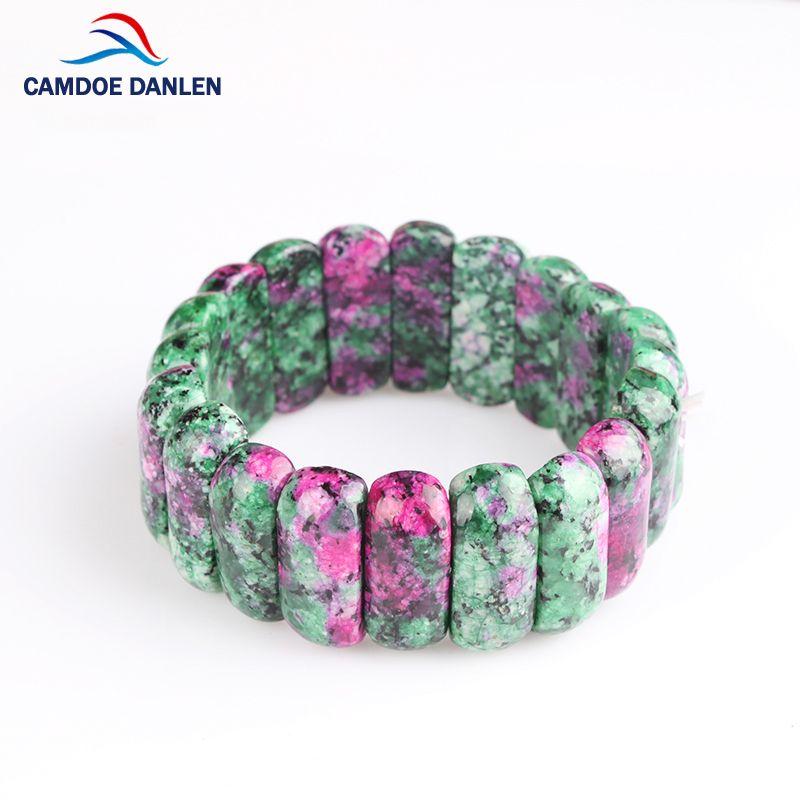 4 Conception De Mode de Haute Qualité Naturel Rouge Vert Bracelet En Pierre bian Charme Bracelet Bracelet Unisexe Pour Femmes Hommes Bijoux Cadeau