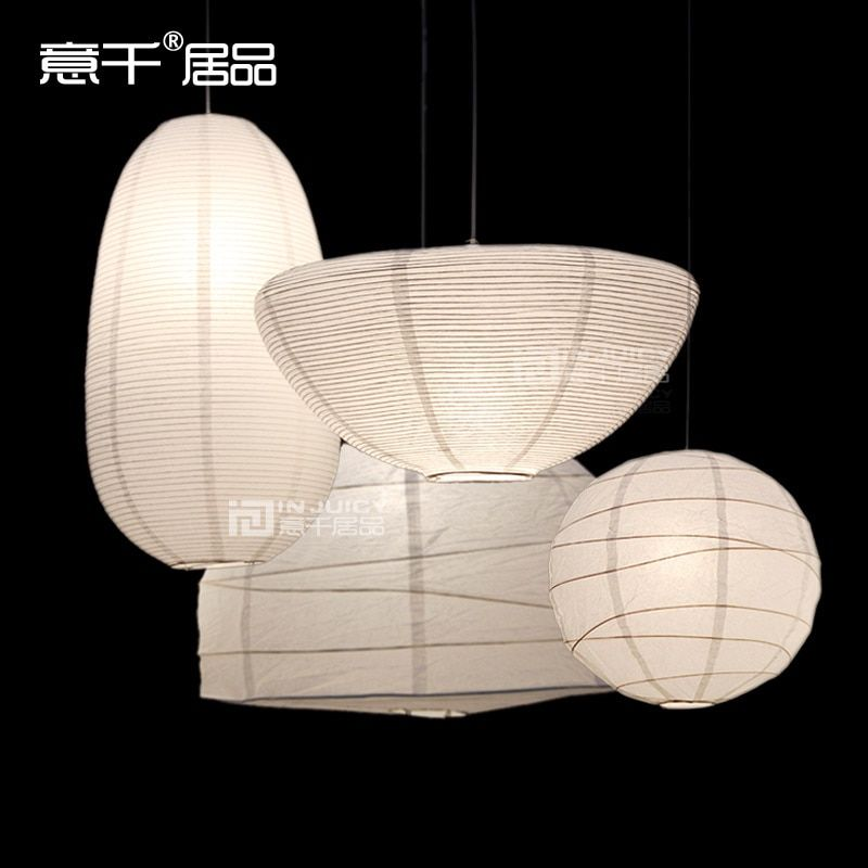 Nordic Simple Environmental Innovation Fashion Lantern Droplight Paper Chimney Droplight Lampshade Ceiling Light Haning Lamp