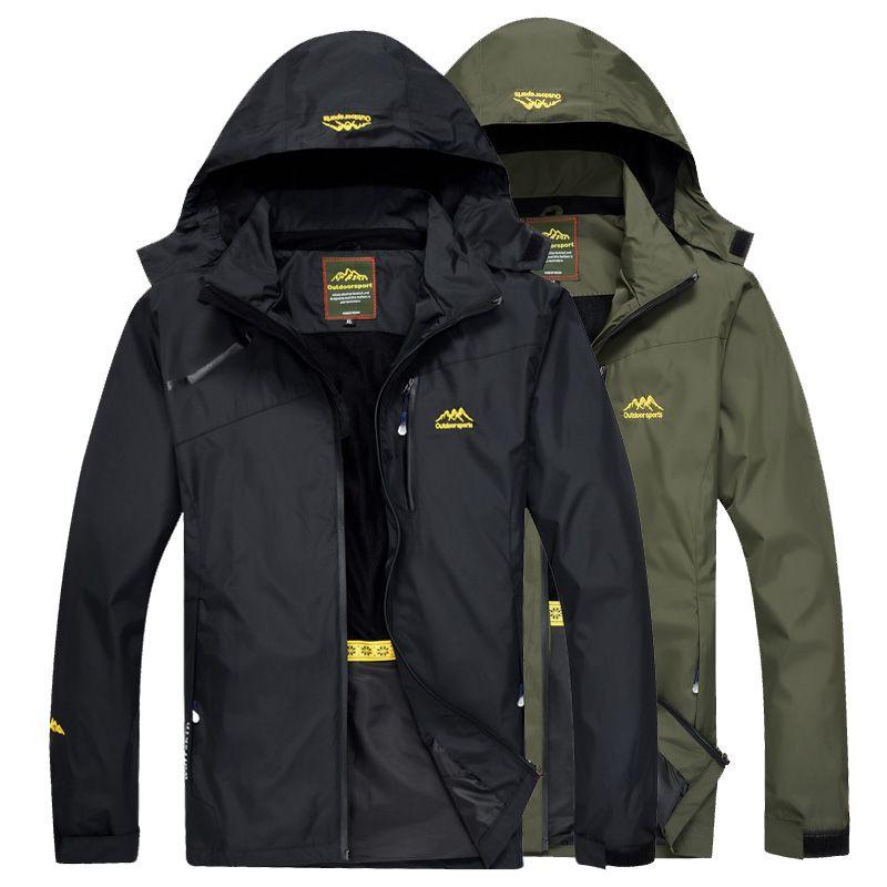 LoClimb hommes veste de randonnée en plein air hommes printemps Sports manteau de pluie escalade Trekking coupe-vent pêche vestes imperméables AM255