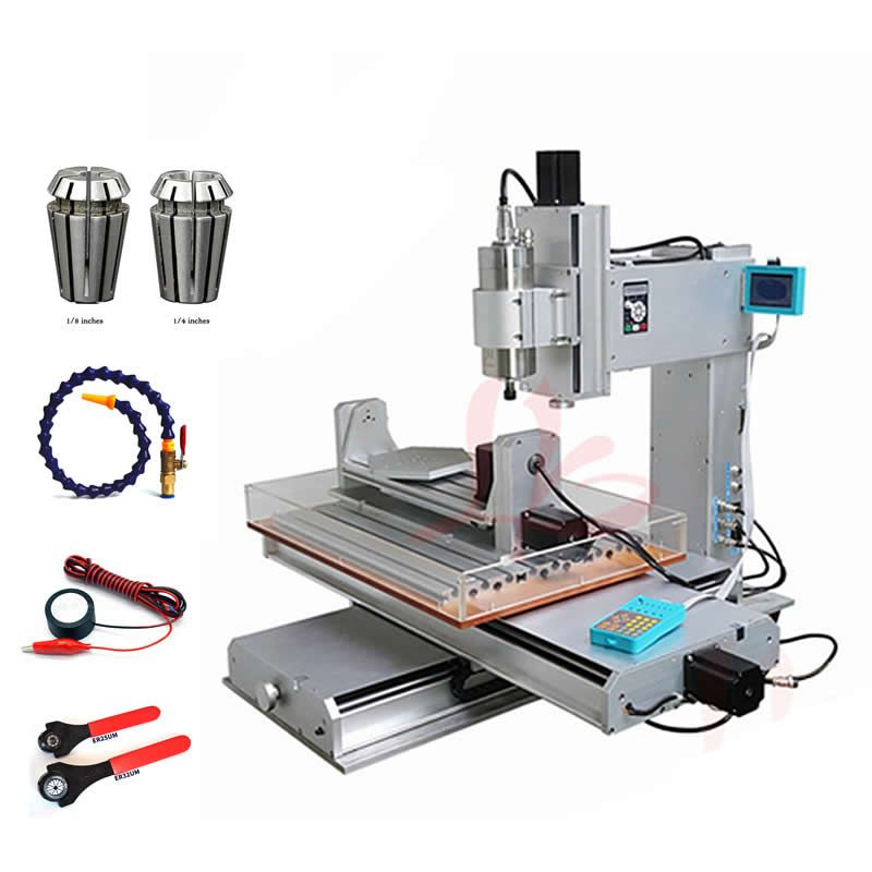 3D Vertical CNC engraving machine 3040 2200W 5axis metal milling router work area 300x400x150mm