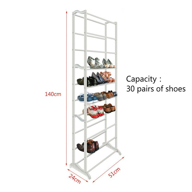 Y170 High Quality Shoe Rack Shelf Bulk Wholesale Stainless Steel ABS 10 layers Foldable Easy Assemble Storage Hanger
