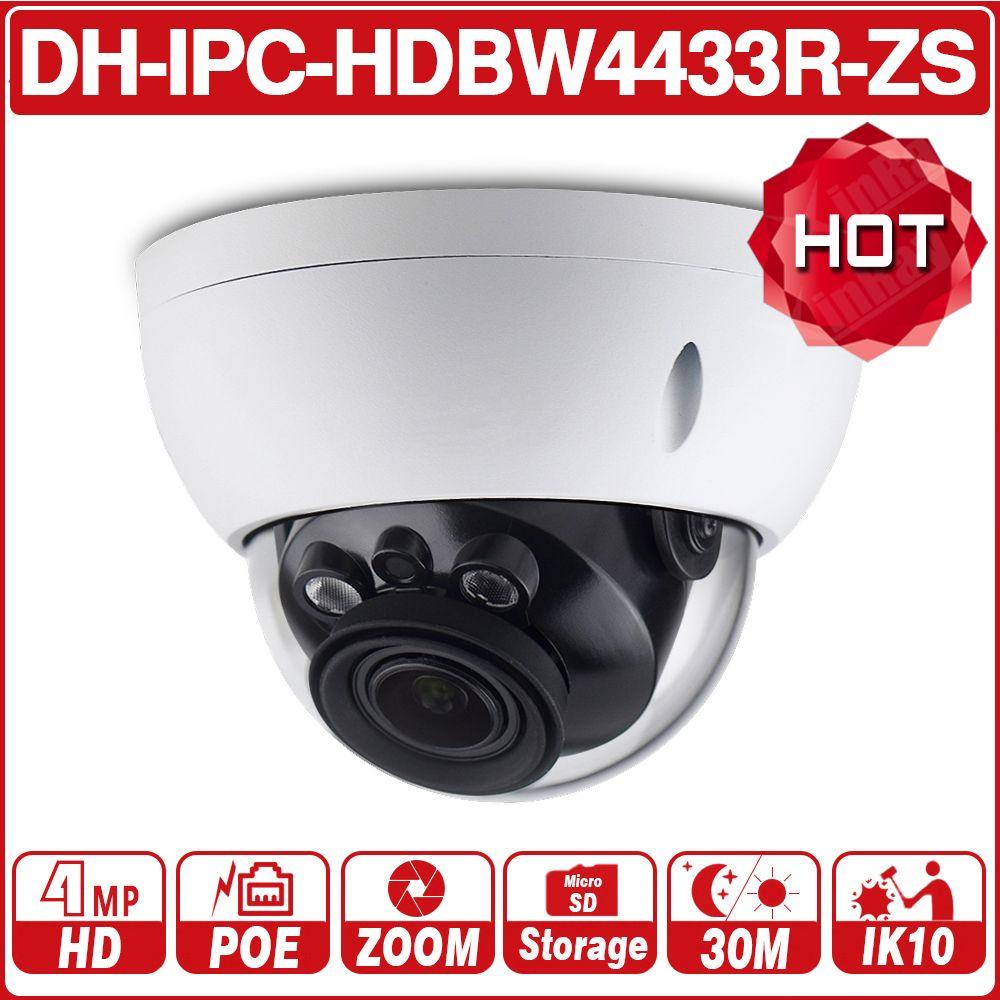 DH IPC-HDBW4433R-ZS 4MP réseau IP caméra 2.7 ~ 13.5mm VF objectif 5X Zoom CCTV avec 30M IR gamme starlight remplacer IPC-HDBW4431R-ZS