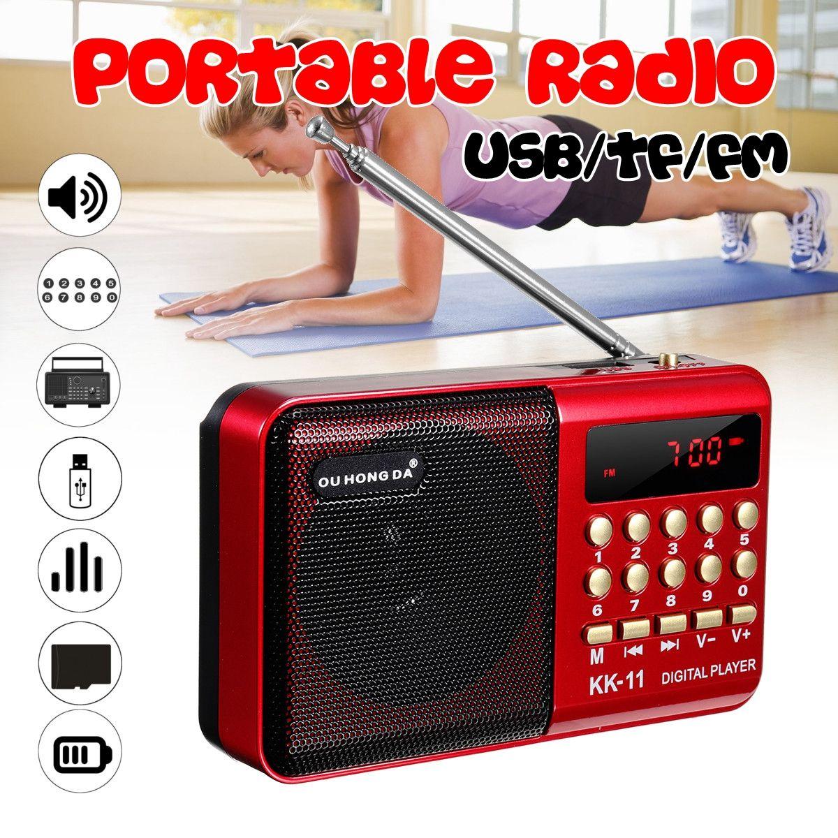 Mini radio portable De Poche Numérique FM USB TF MP3 Lecteur haut-parleur rechargeable